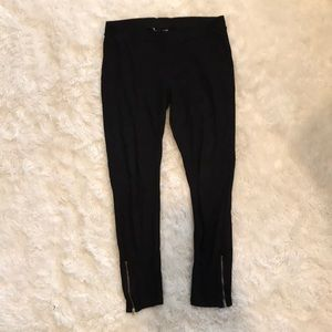 H&M Black Leggings with Zippers